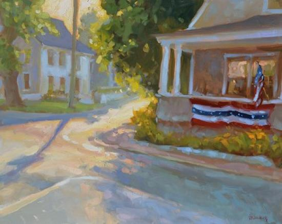 """Corner Shadows"" by Shannon Smith Hughes Oil/Linen   24x30   $4,800"