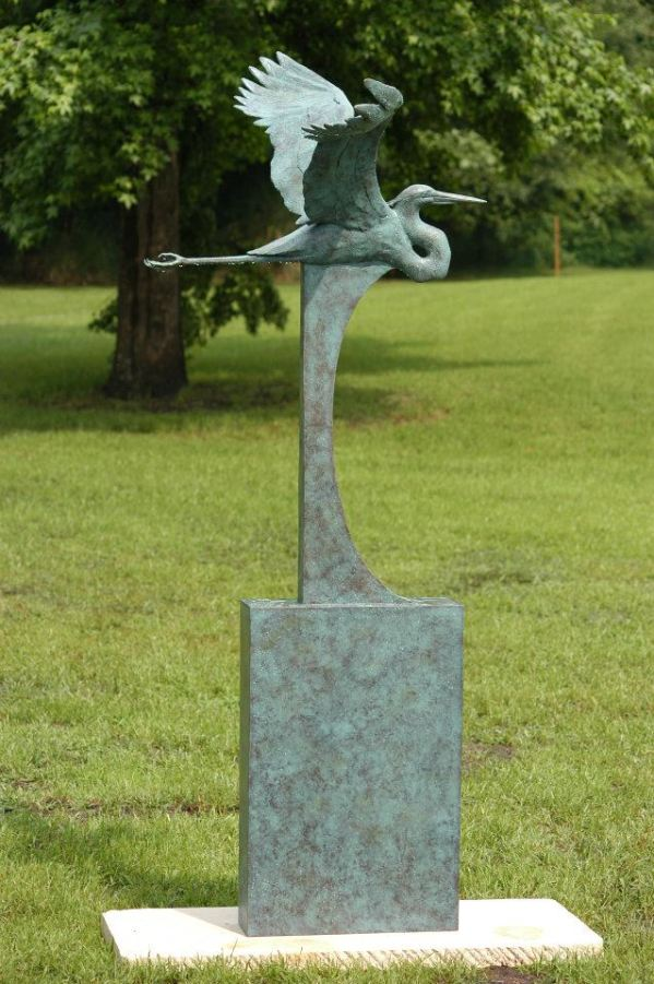 """Flying Heron"" by Darrell Davis"
