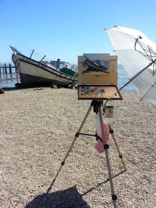 """I love my new plein air easel called an Open M Box. I am anxious to paint plein air more often!"""
