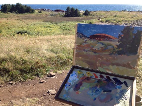 Monhegan painting by Shannon