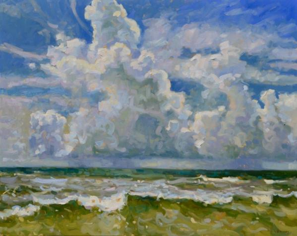 """Surf and Sky"" by Shannon Smith Hughes 48x60 o/l"