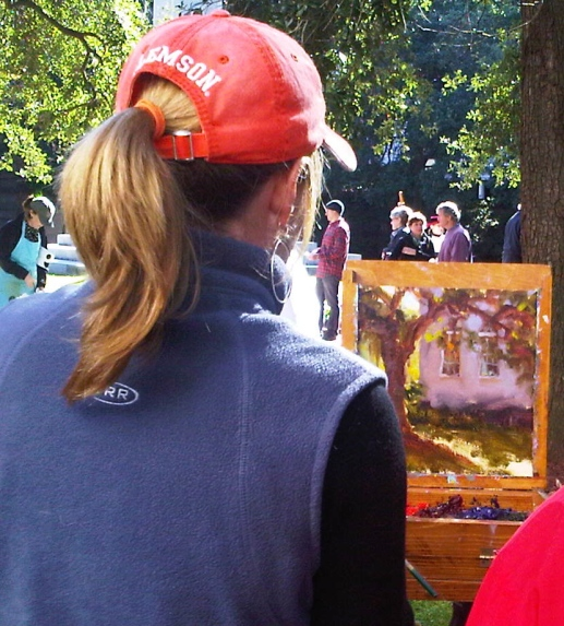 Shannon painting in the park 2011