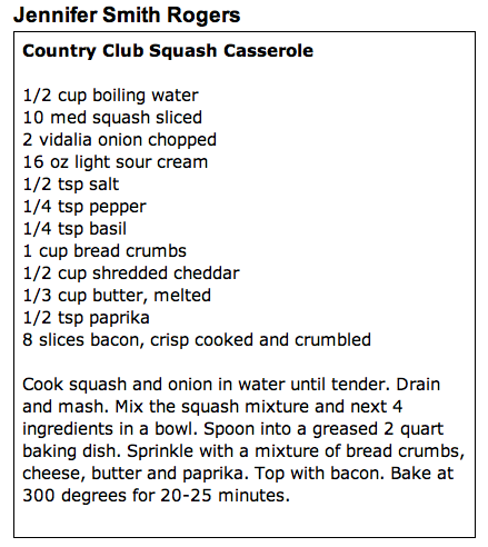 Country Club Squash Casserole