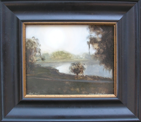 Avery Island, II Gary Grier oil on panel, 13x15 framed retail price $1,200 starting bid $400