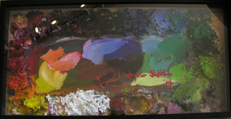 Betty Anglin Smith's Pallet 16x31 framed  starting bid $50