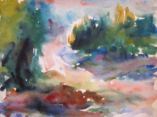 Budapest Watercolor #1   Carl Plansky, Anglin Smith Fine Art watercolor, 19x23 framed  retail price $1,800 starting bid $600