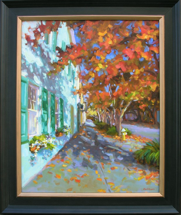 East Bay  Jennifer Smith Rogers, Anglin Smith Fine Art    oil on linen, 37x32 framed  retail price $5,100 starting bid $1,700