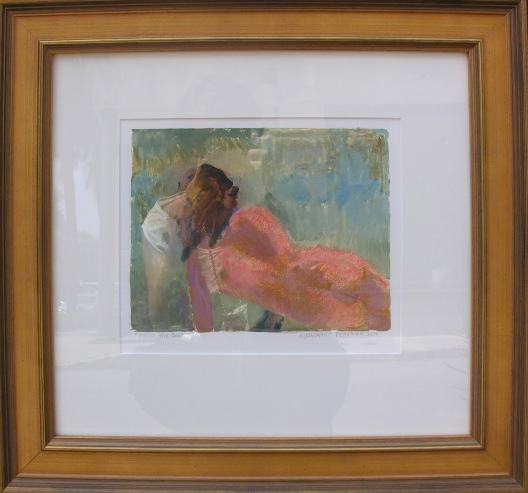 From the Back  Margaret Petterson, John Carroll Doyle Fine Art     monotype, 17x18 framed   retail price $1,300 starting bid $440