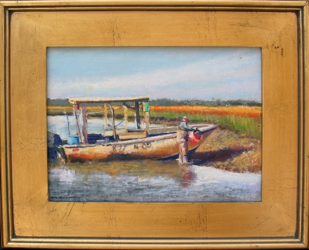 Out for Oysters  Mark Kelvin Horton, Horton Hayes Fine Art oil on linen, 14x17 framed  retail price $1,500 starting bid $500