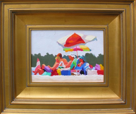 Packin' Heat III    Rhett Thurman, The Sylvan Gallery oil on linen, 18x21 framed retail price $1,400 starting bid $470