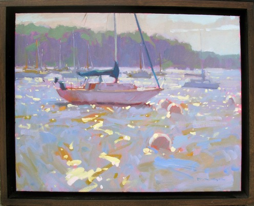 Sunlit Water  Colin Page, Anglin Smith Fine Art  oil on linen, 18x23 framed  retail price $2,000 starting bid $670