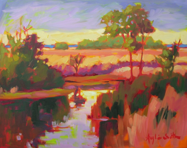 Winter Wetlands  Betty Anglin Smith, Anglin Smith Fine Art oil on canvas, 24x30  retail price $5,500  starting bid $1,840