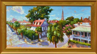 State Street View 30x54 framed o/l $7,300