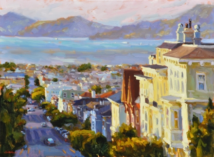 Pacific Heights oil on linen 30x40
